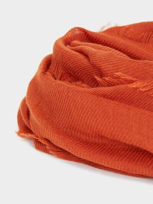 Шарф морковного цвета | 5442558