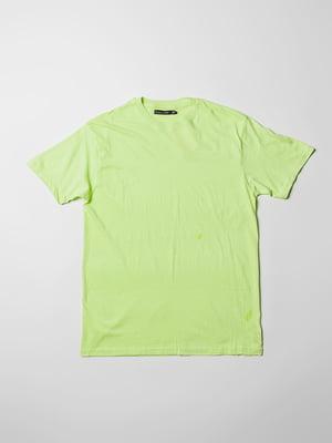 Футболка салатового кольору | 5366030