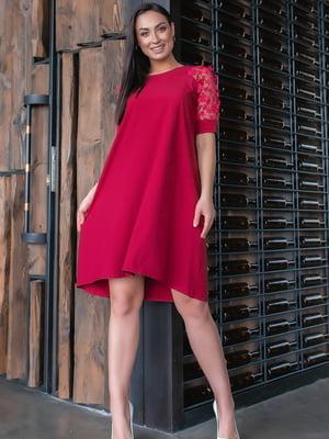 Сукня бордового кольору | 5445344
