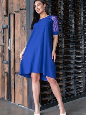 Сукня кольору індиго | 5445345