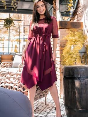 Сукня кольору марсали | 5445359