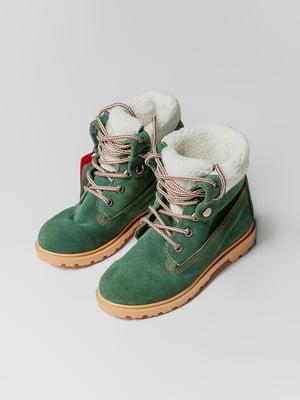 Ботинки зеленые | 4695393