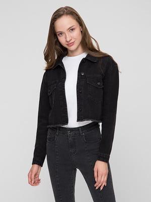 Куртка джинсова чорна | 5445389