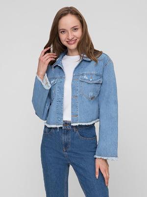 Куртка джинсова блакитна | 5445390