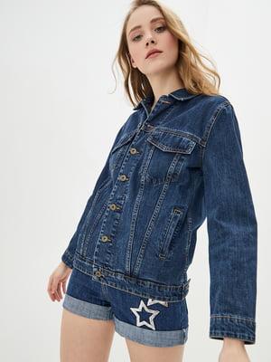 Куртка синя джинсова | 5445397