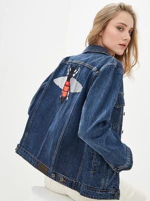 Куртка синя джинсова | 5445409