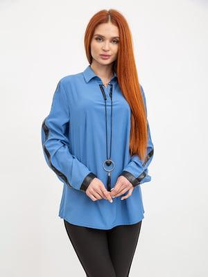Блуза джинсового цвета   5445461