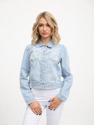 Куртка джинсовая голубая | 5445525