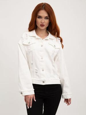 Куртка джинсова молочного кольору | 5445527
