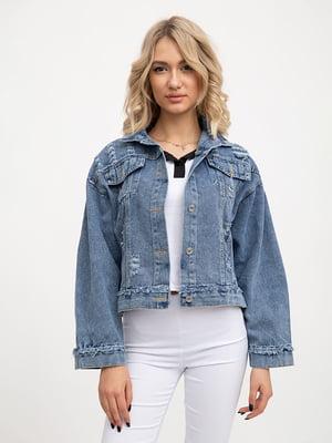 Куртка джинсовая синяя | 5445528