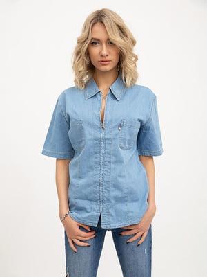 Рубашка голубого цвета | 5445531