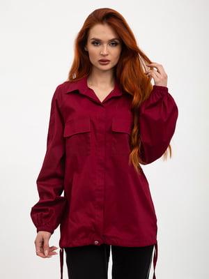 Рубашка вишневого цвета | 5445612