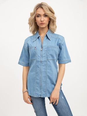 Рубашка голубого цвета | 5445619