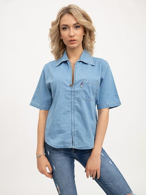 Рубашка голубого цвета | 5445620
