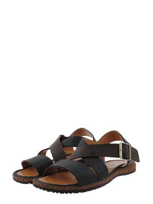 Сандалії чорно-коричневі | 5430791