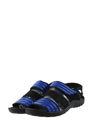 Сандалії чорно-сині | 5430796