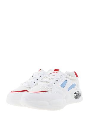 Кроссовки бело-красные | 5440546
