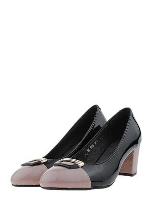Туфли черно-бежевые | 5444352