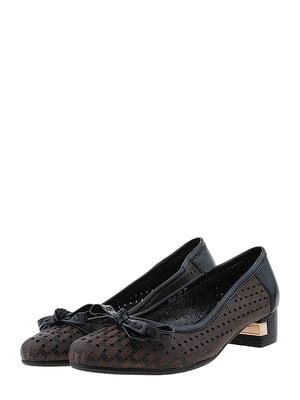 Туфли черно-коричневые | 5444354