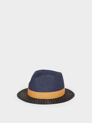 Шляпа сине-коричневая | 5442608