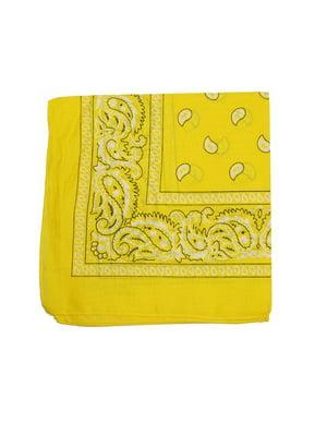 Бандана жовта в принт | 5446364