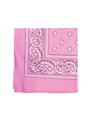 Бандана рожева в принт | 5446371