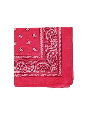 Бандана рожева в принт | 5446373