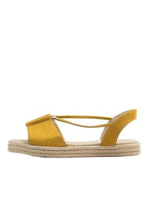 Босоніжки жовті | 5446485
