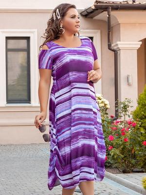 Сукня фіолетова з переливом | 5447047