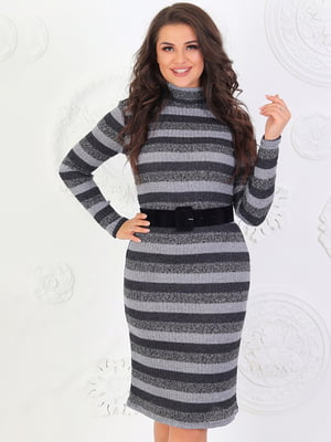 Платье серое в полоску   5447058
