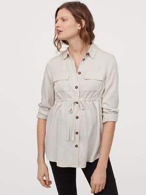 Рубашка светло-бежевая | 5447231