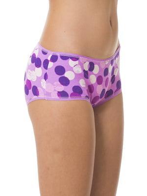 Труси фіолетові в горошок | 5440867