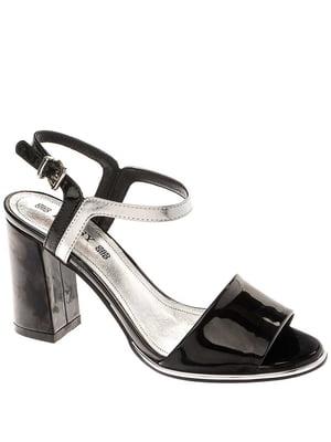 Босоніжки чорно-сріблястого кольору | 5418579