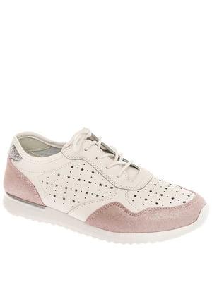 Кроссовки бело-розовые | 5418665