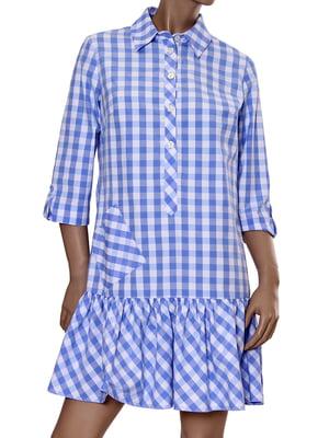 Сукня блакитна в клітинку | 5447833