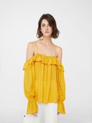 Блуза гірчичного кольору | 5448424
