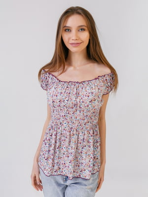 Блуза в цветочный принт | 5441578