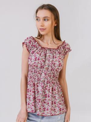 Блуза в цветочный принт | 5441583