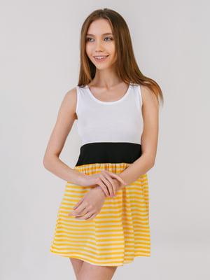 Сукня біло-жовта | 5441560