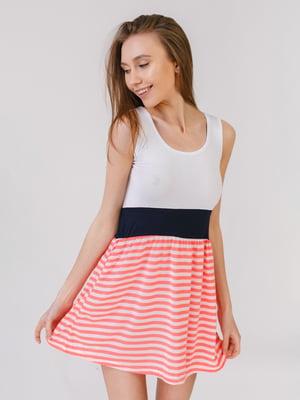 Сукня біло-рожева у смужку | 5441561