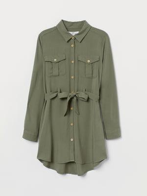 Сукня-сорочка кольору хакі   5450992