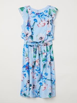 Платье для кормящих голубое с принтом   5451207