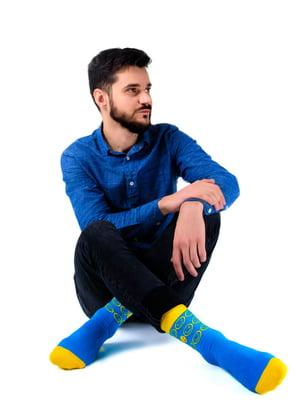 Носки голубые с рисунком | 5452596