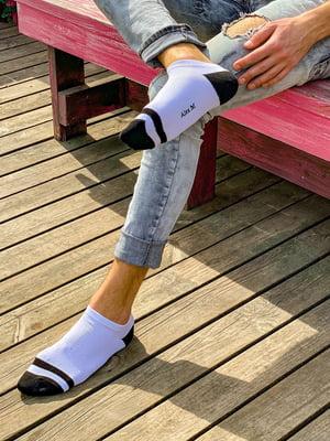 Шкарпетки біло-чорні | 5452587