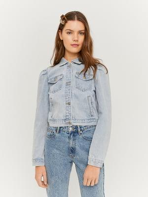 Куртка блакитна джинсова | 5454266