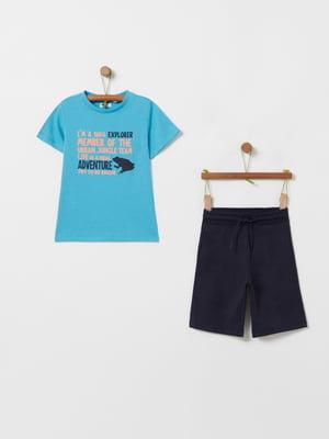 Костюм спортивный: футболка и шорты | 5436022