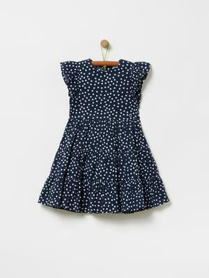 Платье синее в горох | 5454901