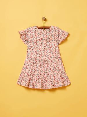 Платье розовое с принтом | 5436004