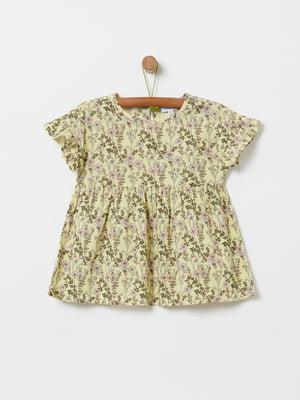Блуза біла з принтом | 5435673