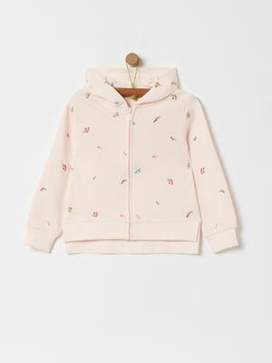Кофта розовая с принтом | 5436045